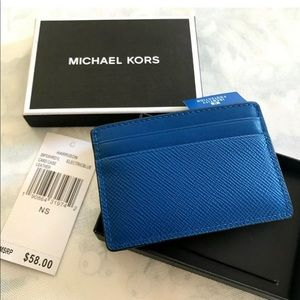 Michael Kors Mens Harrison Card Case Leather